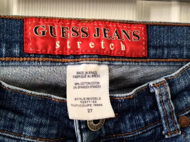 Guess Slit Boot Cut Jeans-Medium Wash