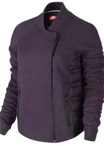 Nike Moto Burgundy Quilted Puffer Jacket