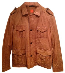 Hugo Boss tan Leather Jacket