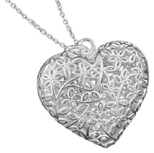 Other Sterling silver bubble filigree heart necklace