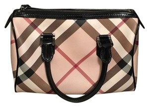 Burberry Satchel in brown nova check