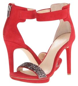 Calvin Klein red Platforms