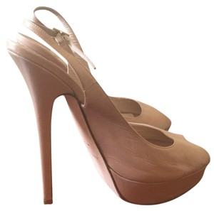 Jimmy Choo Nude;Tan Platforms
