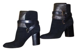 Michael Kors Ankle Boot Studded Buckle Black Boots