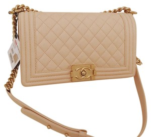 Chanel Beige Classic Caviar Chic Cross Body Bag