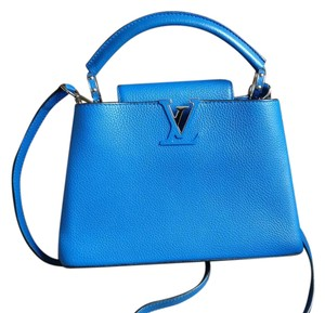 Louis Vuitton Lv Capucines Capucines Bb Satchel in Blue