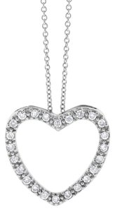 0.20 Ct. Gorgeous Natural Diamond Heart Pendant in Solid 14k White