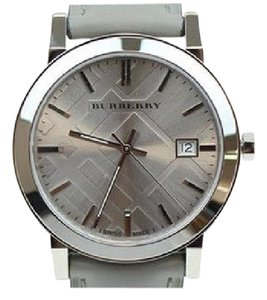 Burberry Women's Swiss Silver Tone Gray Leather 38mm Watch BU9036