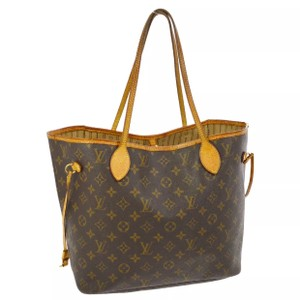 Louis Vuitton Neverfull Monogram Leather Tote
