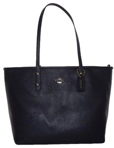 Coach City Zip Pebble Leather 37155m Tote in NAVY