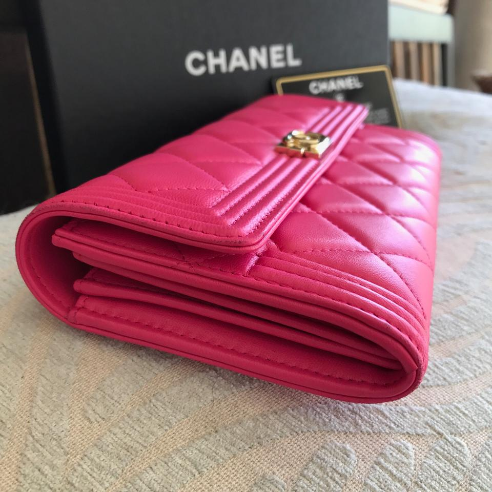 f732aaac3b769a Chanel Chanel Hot Pink Leather Le Boy Wallet Image 11. 123456789101112