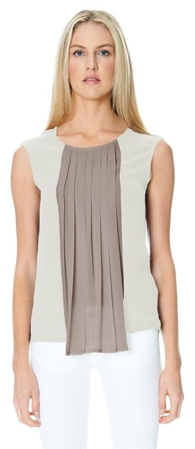 Sandra Weil Beige White Top Off White