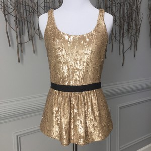Burberry Top Vintage Gold Sequin