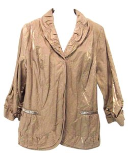 Chico's Open Gold Jacket