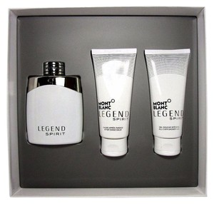 Montblanc MONT BLANC LEGEND SPIRIT 3 PIECES GIFT SET POUR HOMME EDT 3.3 OZ