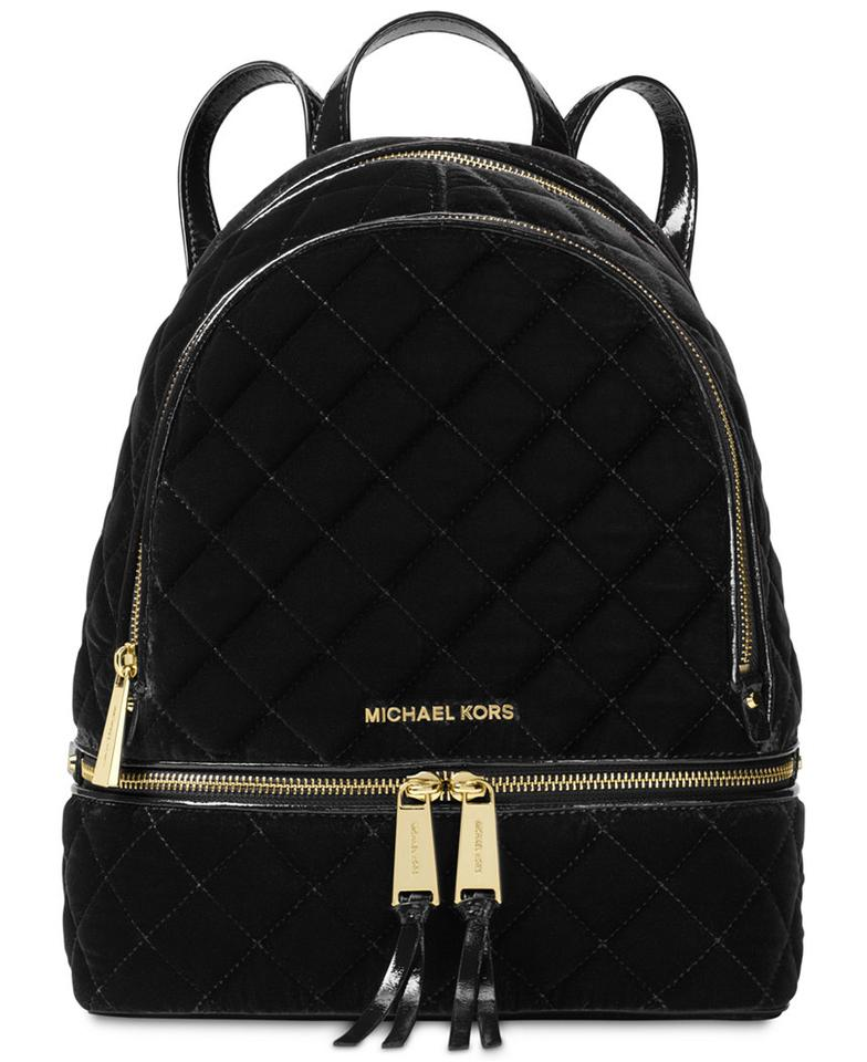 michael kors new rhea medium velvet backpack on sale 26. Black Bedroom Furniture Sets. Home Design Ideas
