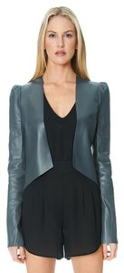 Sandra Weil Leather Gray Grey Leather Jacket