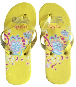 Moschino Cheap And Chic Hippy Fizz Flip Flops Yellow Sandals