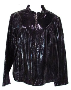Chico's Patent Leather Leather Jacket