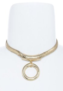 hausofgiovanni Ring Accent Snake Chain Necklace Choker