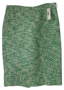 J.Crew Skirt kelly green/ white