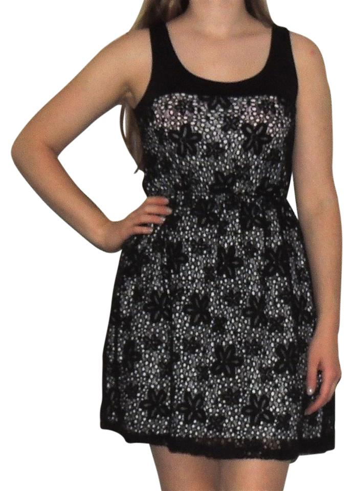 Soprano black and white flower short casual dress size os one size soprano short dress black and white floraldress lacedress blackandwhitedress on tradesy mightylinksfo