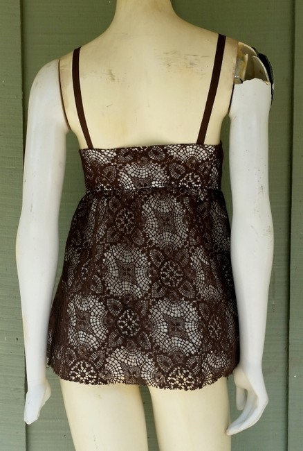Robert Rodriguez Lace Front Ties Lined Top Brown