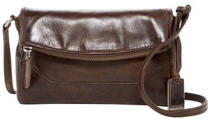 Frye Leather Foldover Melissa Brown Cross Body Bag