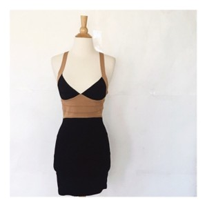 bebe short dress Black and tan on Tradesy