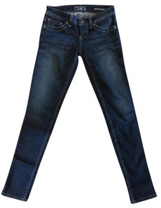 Guess Skinny Stretchy Distressed Power Ultra Skinny Jeans-Dark Rinse