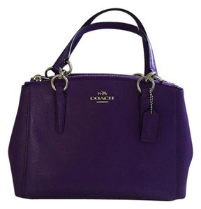 Coach Crossgrain Leather Christie Carryall Satchel in Purple