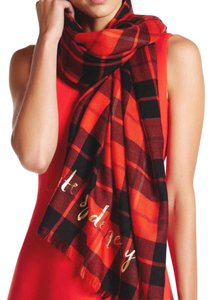 Kate Spade NEW Wool Plaid Oblong Scarf