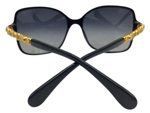 Chanel Stunning Black Blooming Gold Bijou Chanel Sunglasses 5355 c.622/S8 58