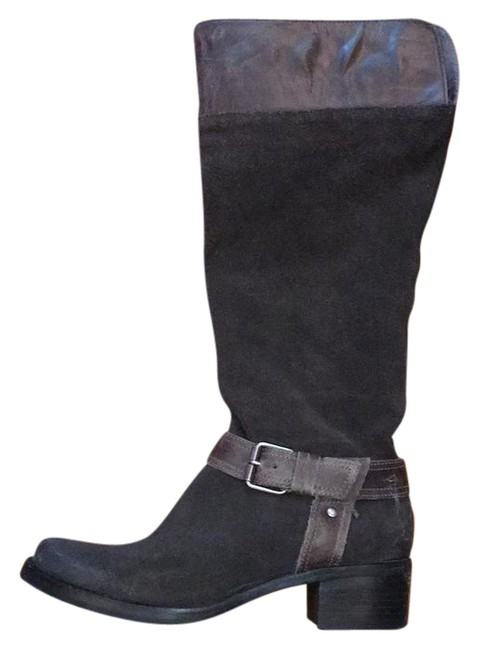 Item - Grey Suede Leather Boots/Booties Size US 8 Regular (M, B)
