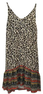 CAbi short dress Leopard Print Black Multi on Tradesy