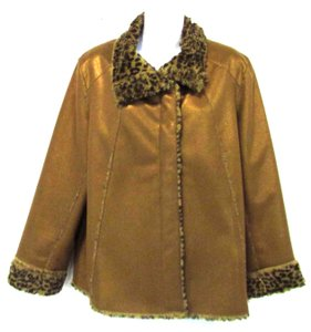Chico's Shimmer Light Brown Jacket