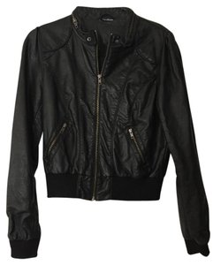 H&M Vegan Leather Bomber Leather Jacket