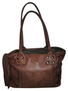 Amber Rose Leather Satchel in brown