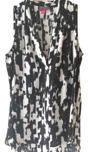 Vince Camuto Top Black White