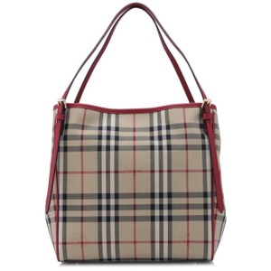 Burberry Tote in Honey And Parade Red