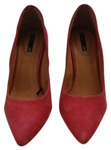 H&M Hm Suede Pink Hot pink Pumps