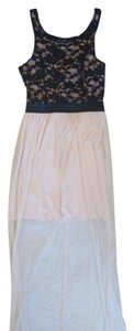 Burlington Maxi Embroidered Sheer Evening Dress