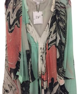 Diane von Furstenberg short dress multi print on Tradesy