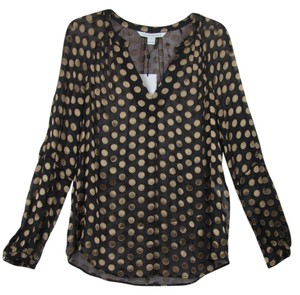 Diane von Furstenberg Top Black/Gold