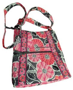 Vera Bradley Hipster Handbag Cheery Blossom Cross Body Bag
