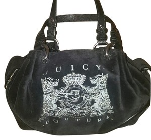 Juicy Couture Sparkle Velvet Leather Hobo Bag