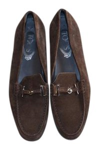 Tod's Suede Loafers Driving Brown Flats