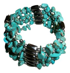 Amy's Treasue Box Natural Turquoise Chips String, Wrap Around