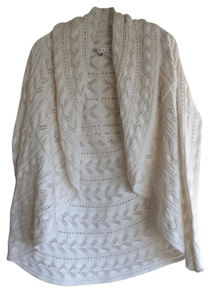 CAbi White Style #720 Circle Sweater/Pullover Size 6 (S) - Tradesy