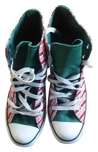 Converse Red and White Stripped Athletic